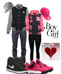 """matching swag"" by mitchelljasmine ❤ liked on Polyvore I want to wear couples clothes with my Man one day. It's so sweet."