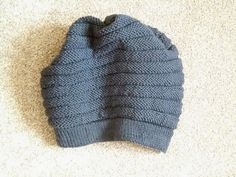 'wurm' beanie knit in Rowan purewool DK #knitting