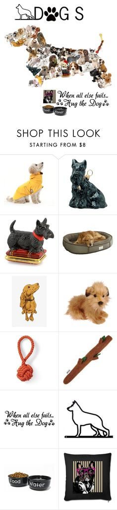 """""""Dogs are a man's Best Friends"""" by keyla-unicorn ❤ liked on Polyvore featuring Joy To the World, Halcyon Days, WALL, Hansa, Lands' End and Mutts & Hounds"""