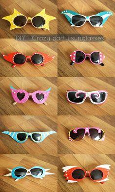 DIY - Crazy party sunglasses