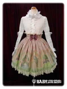 BABY'S newest print:The secret garden ~The rose has secret scent~SkirtWill be available in:IvoryPinkMintBrownBlack