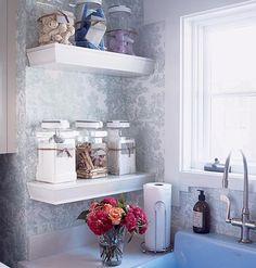 I think this laundry-room organization would work great in a bathroom as well Decor, Home Organization, Room, Shelves, Laundry Mud Room, Redecorating, Laundry Room Decor, Laundry, Bathroom Decor