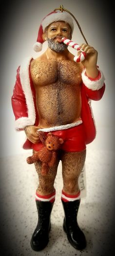 He's full of cheer and ready to decorate your space for the holidays! Green Gifts, Snowman Ornaments, Santa, Bear, Holiday, Happy, Vacations, Bears, Holidays