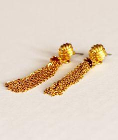 Vintage Gold Tassel Earrings. $19.00, via Etsy.