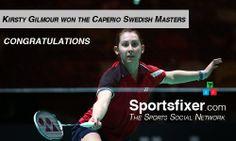 Kirsty Gilmour won the Caperio Swedish Masters. Congratulations www.sportsfixer.com #sportspartner #badminton #sports