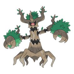 Trevenant - 709 - It can control trees at will. It will trap people who harm the forest, so they can never leave. Using its roots as a nervous system, it controls the trees in the forest. It's kind to the Pokémon that reside in its body.  @PokeMasters