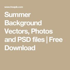 Summer Background Vectors, Photos and PSD files | Free Download