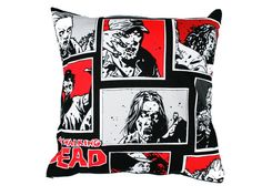 Walking Dead Cushion Cover Zombie Cushion by BlossomvioletCrafts