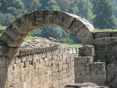 Entrance to the Olympic stadium. Olympia, Greece