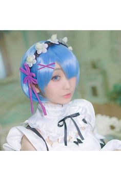 Re:Zero Life in a Different World from Zero Rem Cosplay Wigs_2