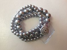 Gray Pearl Corsage  Wristlet by PetalandForrest on Etsy, $4.00