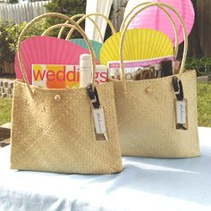 Medium Palm Leaf Shoulder Bag - Welcome Bags - Destination Wedding Favors #guestbags #ootbags #welcomebags