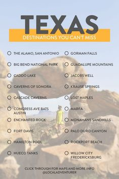 All the Best Things to Do in West Texas Road Trip Guide Texas Roadtrip, Texas Travel, Travel Usa, Florida Travel, Beach Travel, Spain Travel, West Texas, Las Vegas, Viaje A Texas