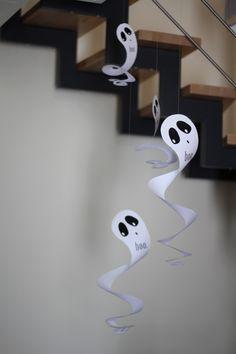 Last Minute Halloween Deko (printable) spooky spirelli ghost
