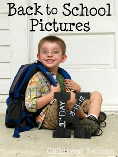 Back to School Pictures- A DIY photo prop and a look at the outtakes