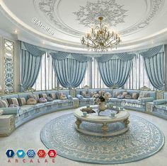 30 The Best And Luxury Living Rooms Design Ideas Living Room Sofa Design, Living Room Designs, Living Room Decor, Luxury Homes Interior, Home Interior Design, Hall Curtains, Dream Rooms, Luxurious Bedrooms, Luxury Living