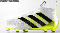 The white Adidas Ace 16+ PureControl football boots will be launched in June 2016 and introduce a bold and modern look for the PureControl, which sees the lateral cage offset in color for the very first time.