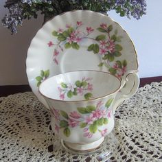 Royal Albert MAYFLOWER Bone China Tea Cup and Saucer by LauriesFineChina on Etsy