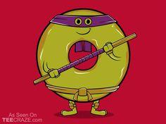 Donutello Kid's T-Shirt Nerdy Shirts, Cute Tshirts, Cool T Shirts, Tmnt Characters, Geek Chic, Teenage Mutant Ninja Turtles, Red Fashion, Mens Xl, Best Funny Pictures