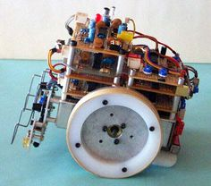 BEAM bots with complex behaviors - includes links to:  HOW TO – Build BEAM Vibrobots – Link Solarbotics – Link. A Beginner's Guide to BEAM – Link. BEAM robot – flashing eyes – Link.