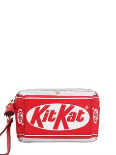 Anya Hindmarch Kit Kat Embossed Leather Clutch Luisaviaroma Luxury Ping Worldwide Shipping