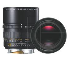 Telephoto lens: #LEICA APO-SUMMICRON-M 75 mm f/2 ASPH