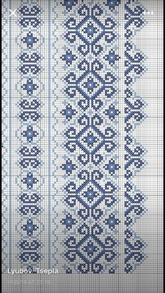Luanaamelia Russo's media content and analytics Cross Stitch Embroidery, Embroidery Patterns, Hand Embroidery, Knitting Patterns, Crochet Patterns, Cross Stitch Borders, Cross Stitch Designs, Cross Stitch Patterns, Russian Cross Stitch