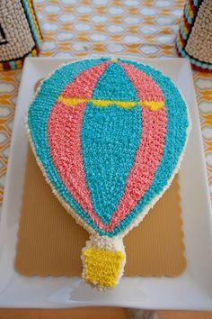 hot air balloon cake Found on Hellobee.com! kayden15
