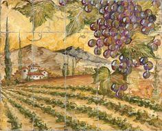 vineyard tile backsplash