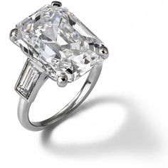 grace kellys 10 48 carat emerald cut diamond and platinum engagement ring by cartier - Expensive Wedding Ring