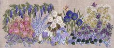 Jardin Bleu Needlebook kit — French Needlework Kits, Cross Stitch, Embroidery, Sophie Digard — The French Needle