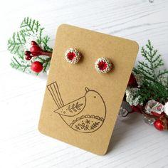 Christmas Inspiration, Christmas Ideas, Christmas Earrings, Unique Gifts, Handmade Gifts, Christmas Is Coming, Handmade Christmas, Home Crafts, Seed Beads