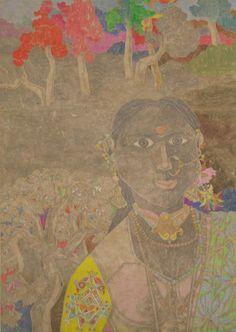 Laxma Goud: Untitled (Portrait of a Woman), 1980