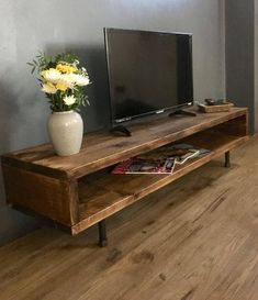 TV CABINET high Made from recycled wood and industrial steel table size . - TV CABINET high Made from recycled wood and industrial steel table size # - Wood Tv Unit, Rustic Tv Unit, Reclaimed Wood Tv Stand, Wooden Tv Stands, Dark Wood Tv Stand, Rustic Tv Stands, Tv Stand Cabinet, Diy Tv Stand, Long Tv Stand