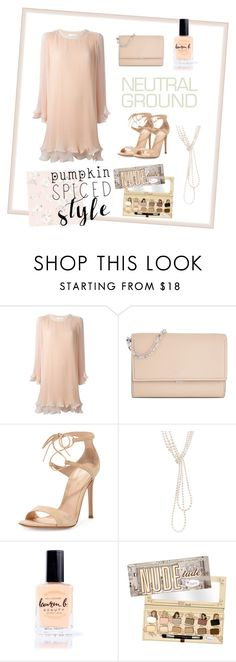 """Neutral touch"" by sarlia ❤ liked on Polyvore featuring Chloé, Michael Kors, Gianvito Rossi, Chanel, Lauren B. Beauty, TheBalm and Captiva"