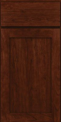 KraftMaid Cabinets -Square Recessed Panel - Veneer (LY) Cherry in Kaffe from waybuild