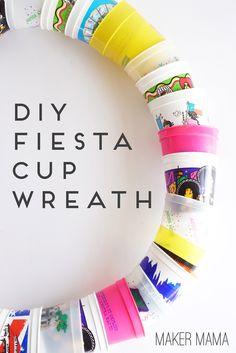 Maker Mama Craft Blog: DIY Fiesta Cup Wreath