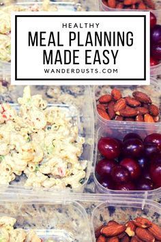 Quick & Easy Meal Planning - Wander Dust Blog