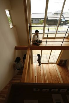 omo17 Japanese Architecture, Concept Architecture, Exterior Design, Interior And Exterior, Tatami Room, Tiny House Loft, Open Ceiling, House Elevation, Pink Houses