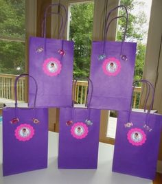 Doc McStuffins Birthday Party Set of 5 Favor Bags Purple Quality Materials New | eBay