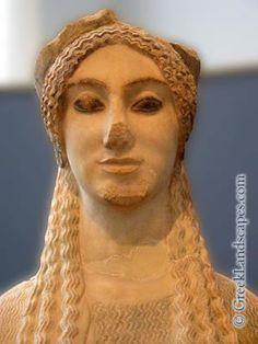 Kore 679 O Kore Col Peplo Part Marmo Di Paros 530 Ac Atene