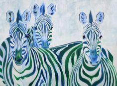 Zebra Art Print Giclée of my painting Safari Africa