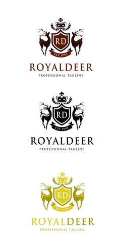 Royal Deer Logo by@Graphicsauthor