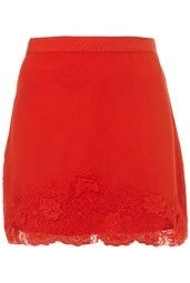 Red embroidered hem skirt from Topshop Sexy Summer Dresses, Summer Skirts, Flippy Skirts, Taylor Swift Style, Dressy Outfits, Geek Chic, Women's Fashion Dresses, Dress Up, Topshop