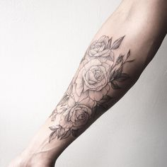 roses on forearm - tattoo people toronto - jess chen
