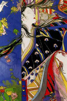 The Inspirational Artwork of Yoshitaka Amano Inspirational Artwork, Art Inspo, Kunst Inspo, Art And Illustration, Botanical Illustration, Fantasy Kunst, Fantasy Art, Yoshitaka Amano, Art Asiatique