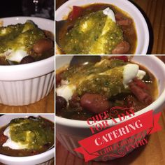 #McMahonsHarleyDavidson #chilicookoff  Bison and Andouille Sausage Sautéed in Duck Fat with Poblano Anaheim and Red and Green Garden Chilis Red and Sweet Onions Cilantro Roasted Garlic Roma Tomatoes Dark Chocolate Mole Black Kidney and Pinto Beans topped with Greek Yoghurt Creme Fraiche and Homemade Habanero Salsa Verde.  #Pittsburgh @beaverfallspa #ChefFrankHelisek #chefknife #cheflife #chef #chefforadaycatering #chili #habaneros #anaheimchiles #bisonnation #bisonmeat