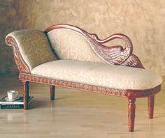 Carved Swan Chaise Lounge - I want this! Dream Furniture, Home Furniture, Antique Furniture, Furniture Design, Tuscan Decorating, Interior Decorating, Interior Design, Victorian Style Furniture, Tuscan Style Homes