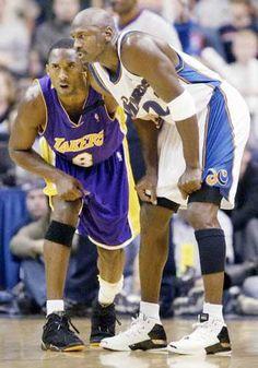 Kobe Bryant and Michael Jordan Kobe Bryant Michael Jordan, Michael Jordan Basketball, Love And Basketball, Sports Basketball, Basketball Players, Jordan 23, Basketball Pictures, Jordan Shoes, Nba Pictures
