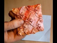 ▶ Drink Caster Origami Tesselation - YouTube